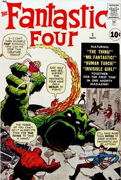 Image result for the fantastic four first comic