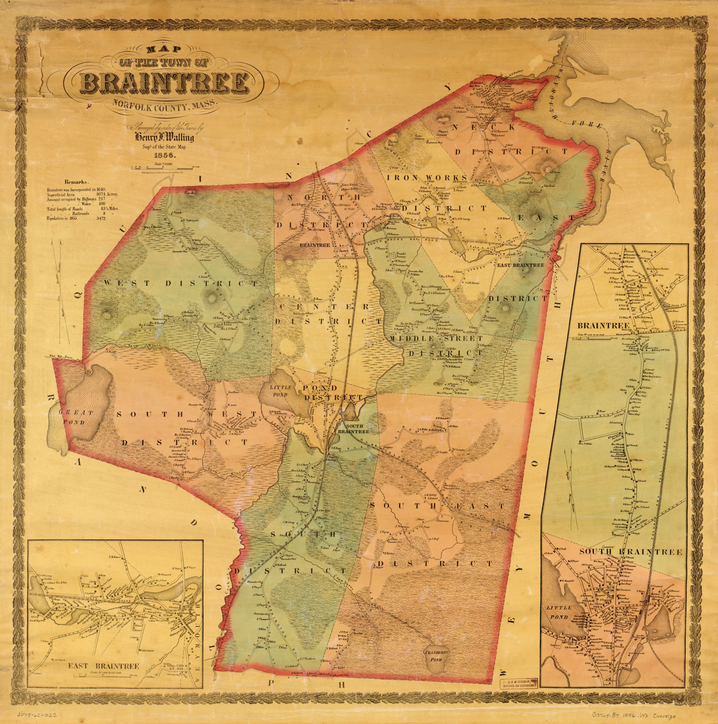 Map Of Braintree Ma File:Map of the town of Braintree, Norfolk County, Massachusetts
