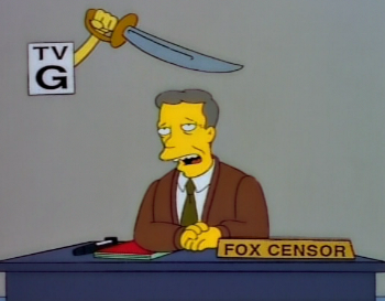 The opening segment of the episode had a difficult time getting through the (real-life) censors. THOH8censor.png