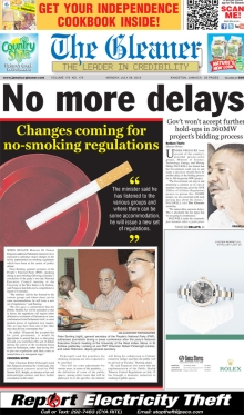 The Gleaner front page.jpg