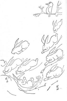 fable the rabbits who caused