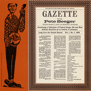 <i>Gazette, Vol. 1</i> 1958 studio album by Pete Seeger