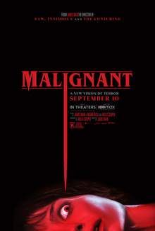 File:Malignant2021poster.jpg Description This is a poster for Malignant. The poster art copyright is believed to belong to the distributor of the film, Warner Bros. Pictures, the publisher of the film or the graphic artist.