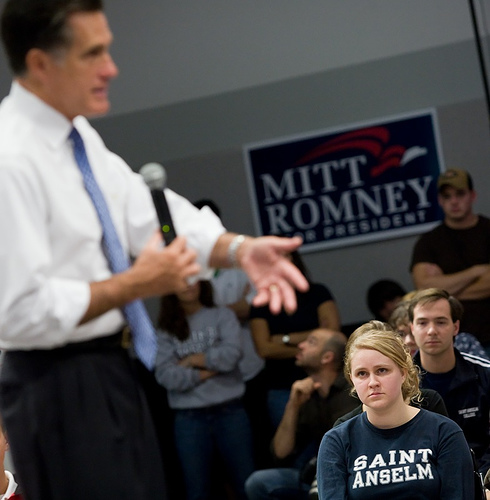 Mitt Romney at SAC with student at NHIOP.jpg