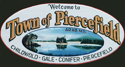 Town of Piercefield sign