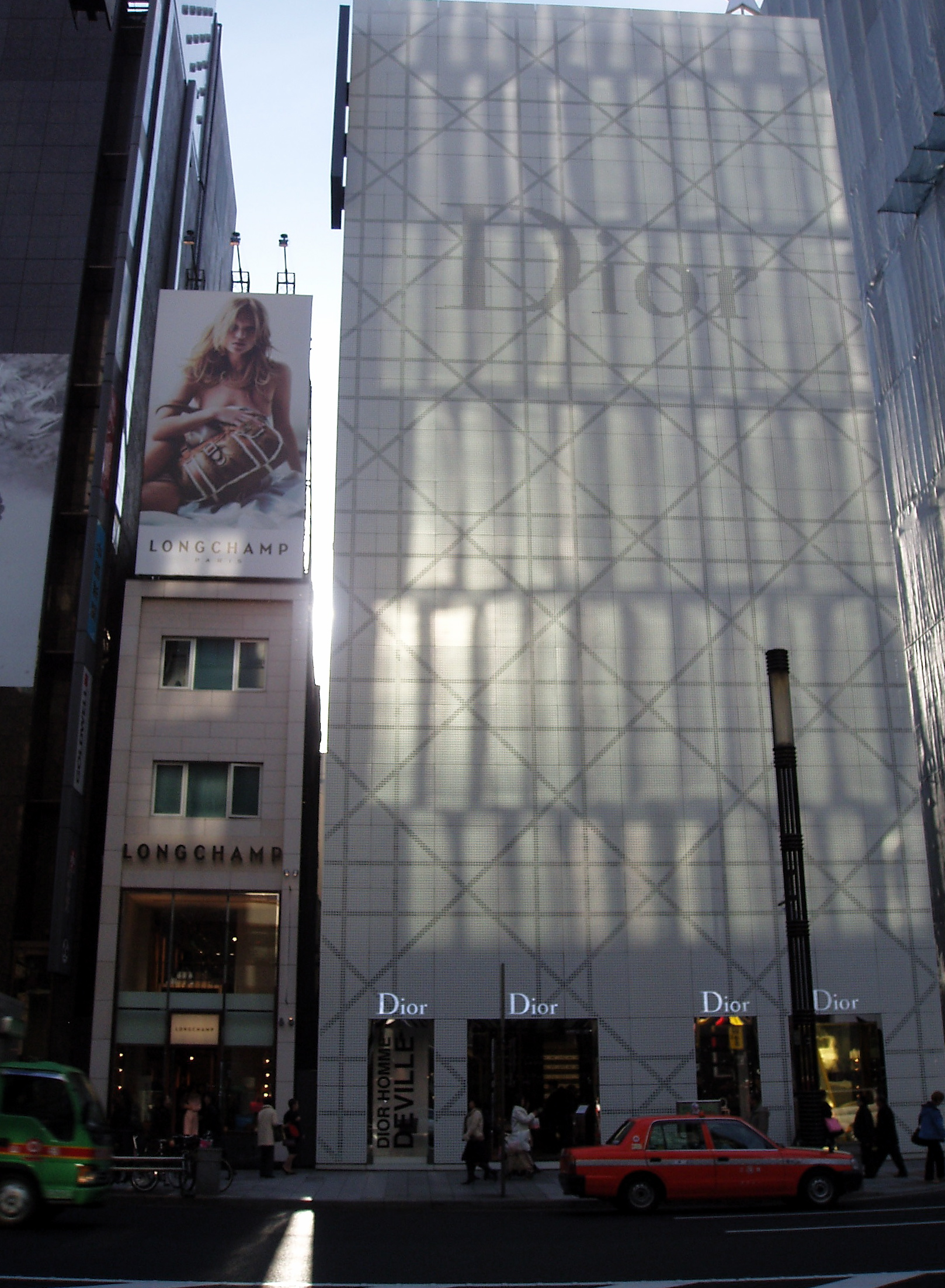 f1408db7e055 The Dior flagship boutique in the upscale Ginza shopping district of Tokyo.  First opened in 2004.