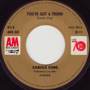 Youve Got a Friend 1971 song written by Carole King