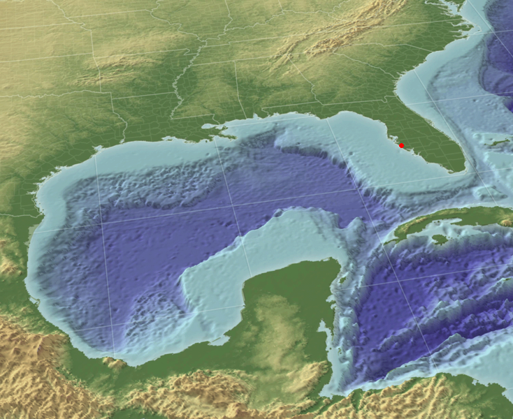 Gulf of Mexico in 3 D