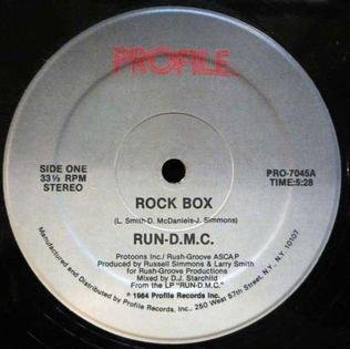 Rock Box 1984 single by Run-DMC