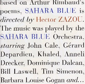 <i>Sahara Blue</i> 1992 studio album by Hector Zazou