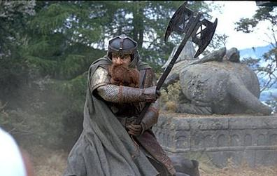 John Rhys-Davies as Gimli in The Lord of the Rings
