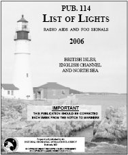 publication describing lighthouses and other aids to maritime navigation
