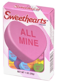 Necco Sweethearts Box Small Allons y, mon chou!; Encouraging Terms of Endearment After Valentines Day