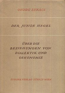 <i>The Young Hegel</i> book by Georg Lukács