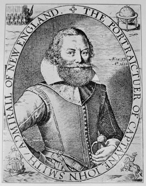 Captain John Smith, from his 1614 map of New England Captain John Smith.JPG