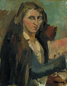 Portrait of Lilian Holt by David Bomberg, 1929