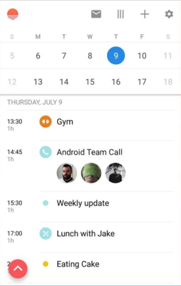 Sunrise Calendar on Android
