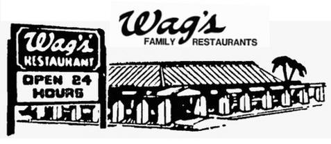 Wag's menu logo circa 1985