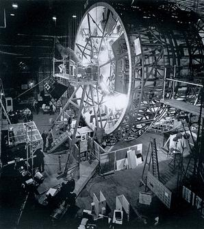 The &quotcentrifuge&quot set used for filming scenes depicting interior of the spaceship Discovery - 2001: A Space Odyssey (film)