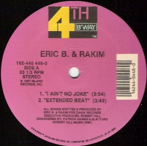 I Aint No Joke single by Eric B. & Rakim