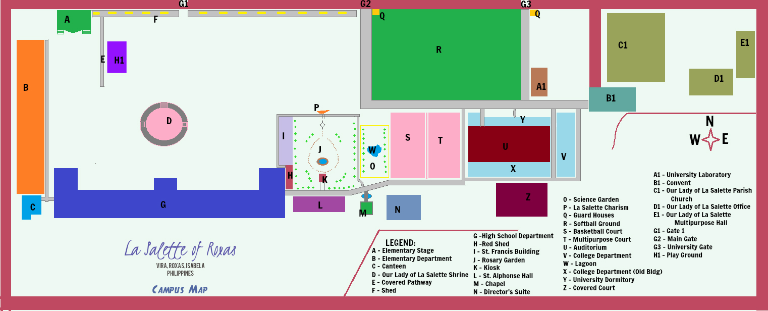 Red Mountain High School Campus Map.File La Salette Of Roxas Campus Map Jpg Wikipedia