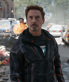 Robert Downey Jr. as Tony Stark in Avengers Infinity War.jpg