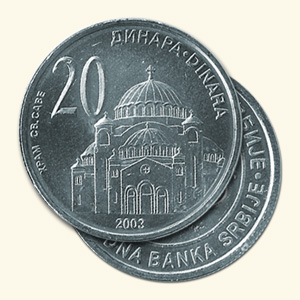 Serbian dinar currency