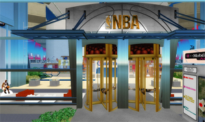 070d65084 The virtual NBA Store as portrayed in the game Second Life.