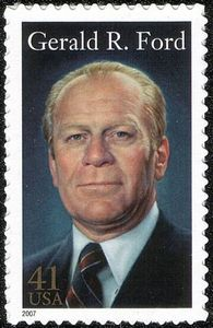 Ford honored on U.S. postage, issue of 2007 Gerald Ford2-41c.jpg