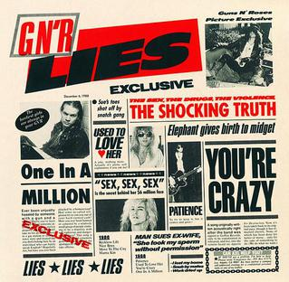 <i>G N R Lies</i> 1988 studio album by Guns N Roses