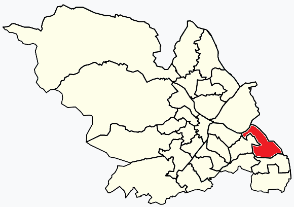 Woodhouse Sheffield, map