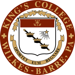 Kings College (Pennsylvania) liberal arts college located in Wilkes-Barre, Luzerne County, Pennsylvania, United States
