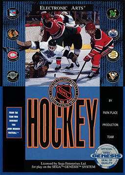 NHL Hockey Sega Genesis Cover