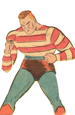 Dugan as Stripesy in Star Spangled Comics vol. 1, 1 (October 1941). Art by Hal Sherman.