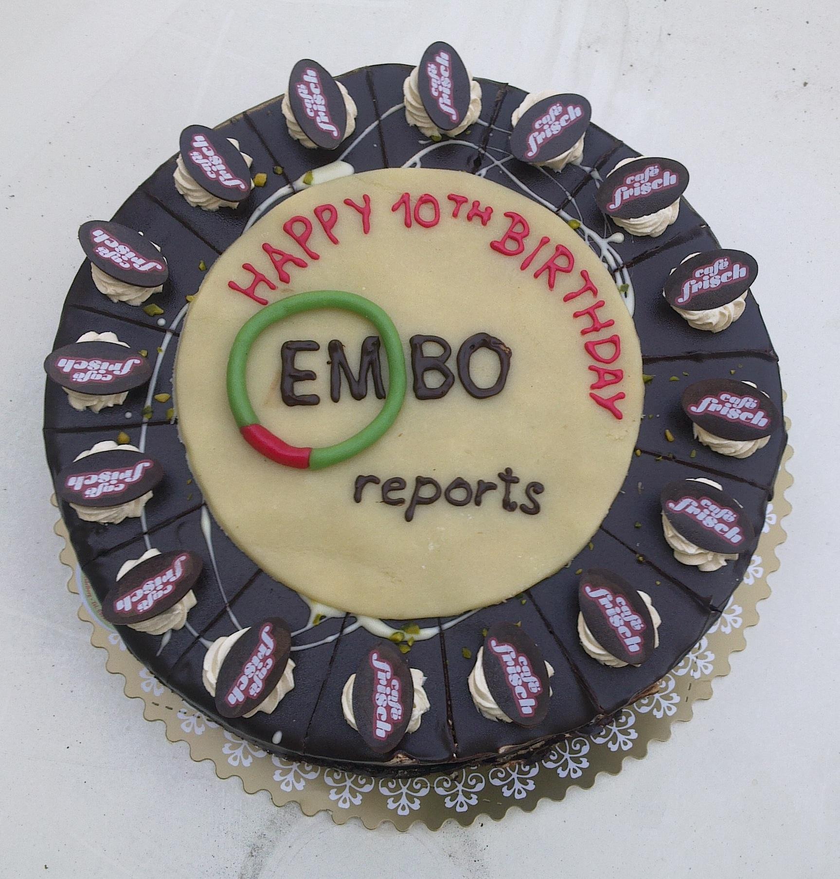 FileEMBO Reports 10th Birthday Cake