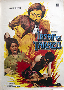 <i>Insaf Ka Tarazu</i> 1980 Hindi revenge drama film by B. R. Chopra