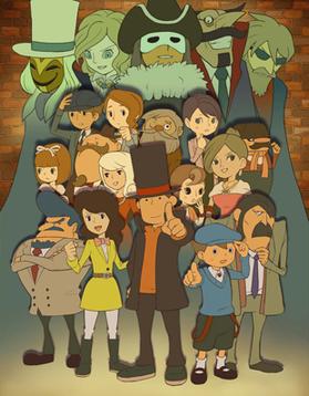 Characters van professor layton