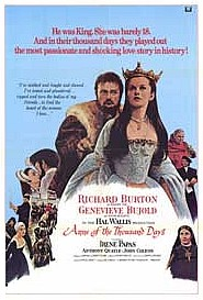 <i>Anne of the Thousand Days</i> 1969 British costume drama: Academy Award winner directed by Charles Jarrott