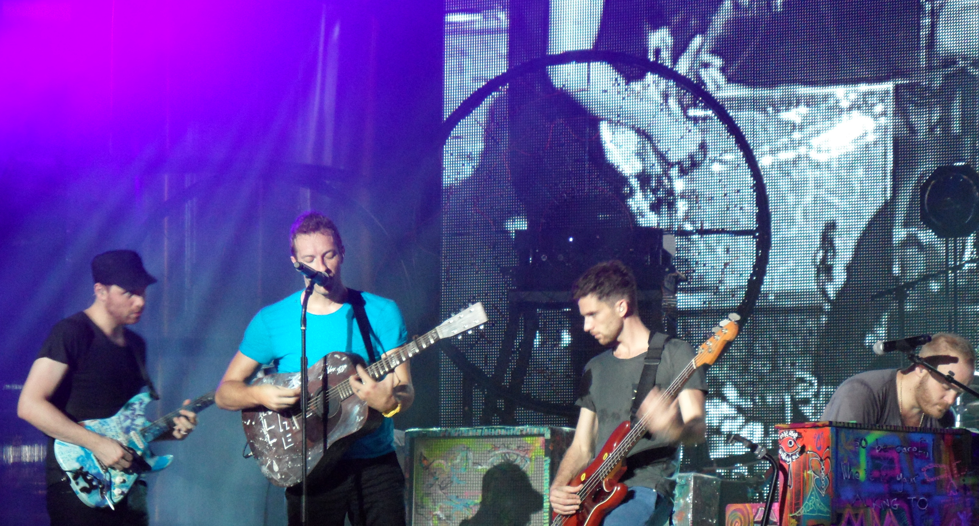Coldplay playing at MuchMusic in Toronto, September 2011