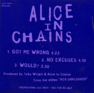 Got Me Wrong 1994 single by Alice in Chains