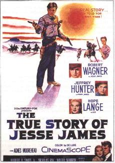 The True Story of Jesse James (1957) movie poster