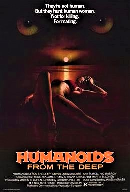 1980 Humanoids from the Deep Horror movie poster print 2
