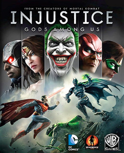 Official poster of Injustice: Gods Among Us game launched in 2013.