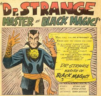 "Splash page for the ""Doctor Strange""..."