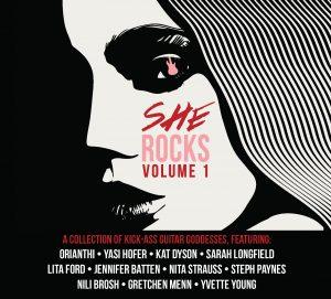 <i>She Rocks, Vol. 1</i> 2017 compilation album featuring female rock guitarists