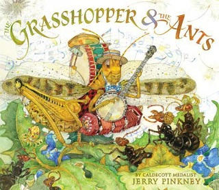 <i>The Grasshopper & the Ants</i> book by Jerry Pinkney