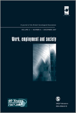 <i>Work, Employment & Society</i> journal