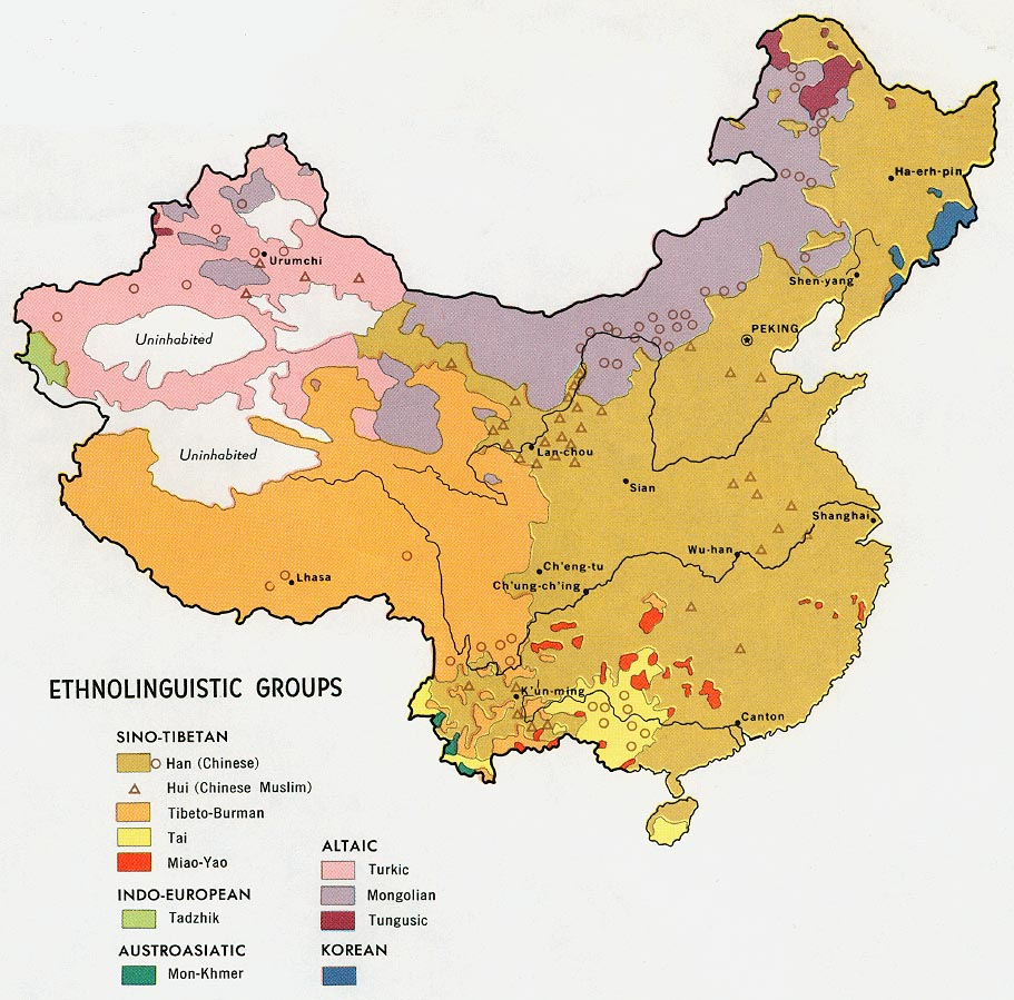 Ethnic Map Of China File:China ethnic map.   Wikipedia