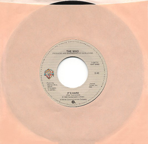 Its Hard (song) 1982 single by The Who