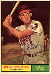 Marv Breeding American baseball player